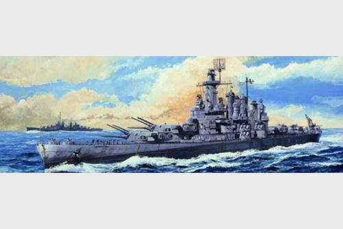 Trumpeter 05735 1/700 Scale USS Washington BB-56 Battleship Plastic Model Kit Free Shipping(China (Mainland))