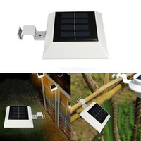 5 pcs/Lot  _ Solar Powered 4 LED Fence Gutter Light Outdoor Yard Wall Pathway