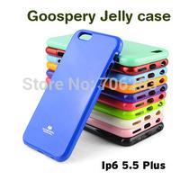 PlusTPU Case, MERCURY GOOSPERY JELLY CASE Bling Shining TPU Case for iPhone 6 plus 5.5 inch + 50pcs/lot retail DHL free