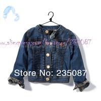Retails(6-7Y) za girl kids denim jacket, brand denim coat, za jeans outwear for girls kids wear cotton tops, Kids wear