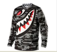 2014 New Troy Lee Designs TLD GP Downhill Jersey Motocross Sport Wear Clothing XS-4XL Full Sleeves Gray