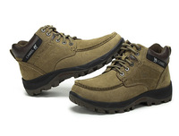 2014 New Camel Waterproof Outdoor Shoes Men Mountain Climbing Leather Hiking Shoes Military Sport Zapatillas 2 Colors Size 38-44