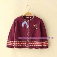 Retails(4-7Y) Girls Cardigan Sweater, girls acrylic sweater top, cute girls knit coat for fall spring, kids wear,