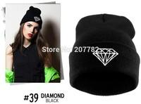 New Hip Hop Unisex Hat Winter Autumn Knitted Cotton Diamond Pattern Beanies Men Sport Ski Skullies For Girls Women Touca
