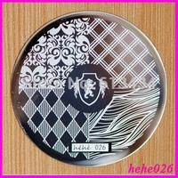 Free Shipping   Stamping Nail Art  8pcs/lot  hehe026  Nail Art Stamping Plates hehe001-048