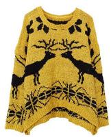 2014 Korean Spring loose circle of velvet deer hedging pilling Women Sweater #307192 Free Shipping