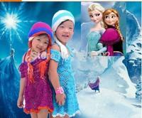 Frozen hat 2014 Crochet Hat, Frozen Winter Hat, Elsa and Anna Beanie,Children's Knitted Hat Girls Beanie Christmas birthday gift
