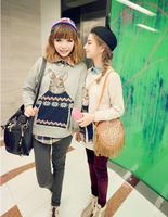 Mr. Rabbit Autumn Winter loose Academy thicker Peter Rabbit Female Women Sweater coat #307124 Free Shipping