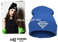 High quality Cheap Winter Warm Knitted diamond supply co Beanie hat Men's Women's black online Beanies Skullies and beanies