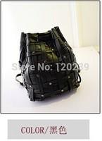 2014 new winter Vintage wash skin preparation backpack rivet fashion bucket bag Europe burst ladies handbags