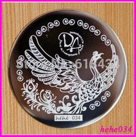 Free Shipping   Stamping Nail Art  8pcs/lot  hehe034 Nail Plate hehe001-060