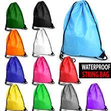 2014 new hot kids Waterproof School boys girls Drawstring Book Bag Sport Gym Swim PE Dance Shoe Backpack Wholesale dropsipping(China (Mainland))