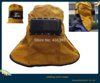 Hot ! new welding mask leather welder welding helmet mask hood work  filter shaped inner outter lens glasses