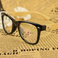 Handmade Bamboo Legs Plain Mirror Vintage M Nail Eye Glasses Frames For Women Men Brand Frames Eyewear Armacao Oculos De Grau