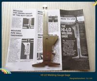 Hot ! new  welding gauge level gauge welding test ruler ulnar measure fillet weld size  misalignment  welding test ruler hl-lo