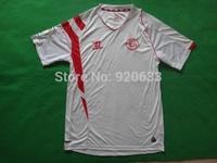 2014 Spain Sevilla Soccer Jersey 14 15 3A+++ Thai quality Sevilla soccer home White blouse Bacca shirt Rakitic Gameiro Uniforms