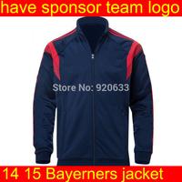soccer jacket 14 15 black new soccer jersey football jacket shirt soccer Football Coat Outdoor Sports