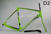 2014 New Design DI2/mechanical carbon De rosa 888 D2 green 56cm superking frame BSA or OEM complete bike ultegra groupset