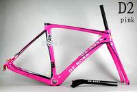 2014 New Design DI2/mechanical carbon De rosa 888 D2 pink 50cm superking frame BSA or OEM complete bike ultegra groupset
