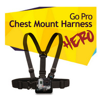 Hot sale new black chest belt for GoPro HD Hero 3+/3/2/1,light go pro mount chest harness,camera accessories self shooting drop