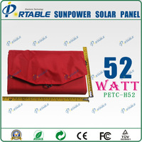 52w sunpower folding solar panel charger for phone/battery