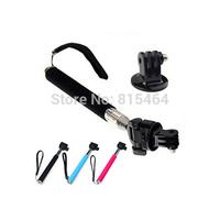 Hot sale camera accessories GoPro HD Hero 3/2/1 selfie stick monopod,extendable pole mount adapter +screw go pro tripod