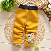 Free Shipping 2014 New Winter Baby Girls Cartoon Style Cotton Materil Soft thick Pants Trousers B040