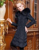 2014 new women's winter fashion lady Slim longer section Nagymaros collar down jacket YRF109 R1P