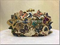 free shipping new 2014 brand design leather women purses Butterfly women handbags BLT0030