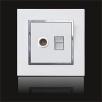 hot sell Wall Mount Power  switch & Socket  feichi series tv & phone socket outlet  for home hotel use