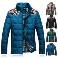 2014 Winter New Men's Cotton-padded Slim Jackets & Coats Man Fashion Warm Down Parkas Slim Overcoat Casual Long-sleeve Outerwear