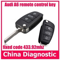 Fixed code 433.92mhz for audi remote control key copier for audi A6 remote control key self learn remote control key duplicator