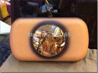 free shipping new 2014 brand design leather high quality women wallets Mirror women clutch handbags BLT0033