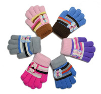 10pcs/lot New High Quality Soft Cotton Baby Warm Gloves Children Wrist Winter Mittens with Bowknot for 3-6T
