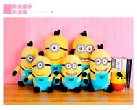 28cm free shipping 1pcs/lot Despicable ME Minions Toy 3D eye baby soft toys plush toys