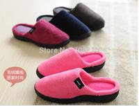 2014 warm men women memory foam slipper ,soft and warm inner sole , winter slipper  for the couples,6colors