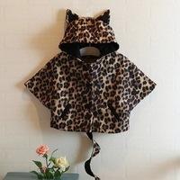 Hu sunshine wholesale new 2014 winter Cute leopard cape coat bat sleeve cardigan jackets & coats leisure outerwear WW09250260H