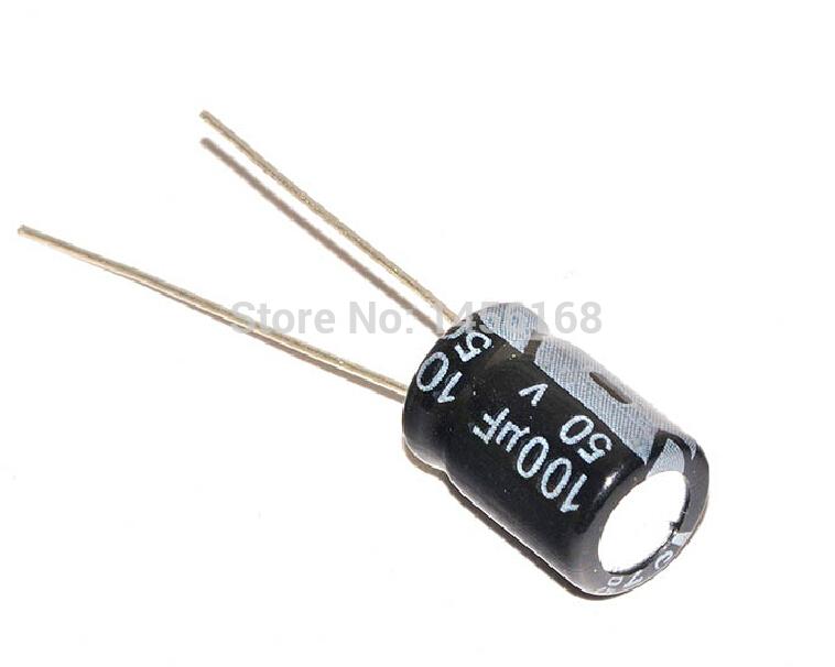 Free shipping Electrolytic capacitor 50V / 100UF volume 8 * 12mm (100PCS)(China (Mainland))