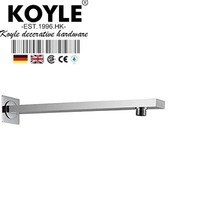 KOYLE - 37CM length Brass Shower Arm chrome for Bathroom Faucet Accessories shower shower head ducha acessorios para banheiro