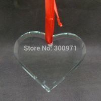 Free shipping+50pcs/lot beautiful  glassheart  shape  ornament for Christmas decoration