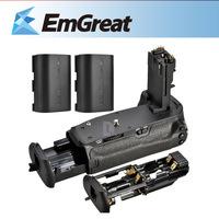 Battery Grip Handy Pack for Canon 6D Battery Grip BG-E13 + 2x Rechargeable Li-Ion Battery LP-E6 for  6D 5DIII 5DII 60D 7D 016089