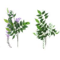Artificial Wisteria Foliage Garland fake Plant Faux Vine Plant Rattan Decor   95616-95617