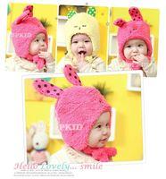 5pcs/lot Hot Soft Velvet Children Hats Keep Warm Baby Winter Caps Cartoon Design Kids Earflap Beanies