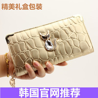 Wallet 2014 new wave of female Korean fashion mobile phone bags wallet purse Large Zip Clutch Ms.
