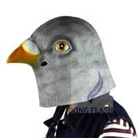 Hot Halloween Pretend Mask ! Creepy Pigeon Animal Mask Head Halloween Costume Theater Adult TK1173 3F