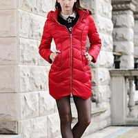 2014 New arrival Large size Winter Coat Women Long Slim White Duck Down Coats Warm Jacket casual fashion RY1007