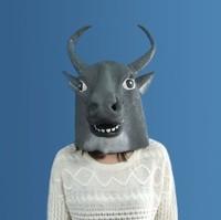 Charm cause latex mask Tauren buffalo green latex mask headgear Ma Tau face animal masks