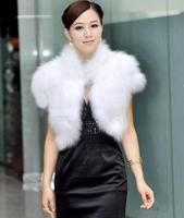 2014 new winter imitation fox fur vest The imitation of the fox temperament fur coat jacket short paragraph lady waistcoat