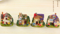 free shipping The micro world European style villa small house resin decoration