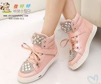 Free shipping In the autumn of 2014 new fashion boy and girl Martin diamond children boots .